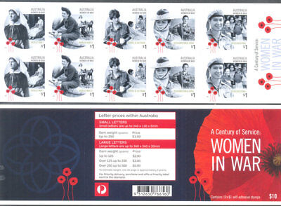 Australia-Women in War-Self-adhesive booklet mnh -2017-military
