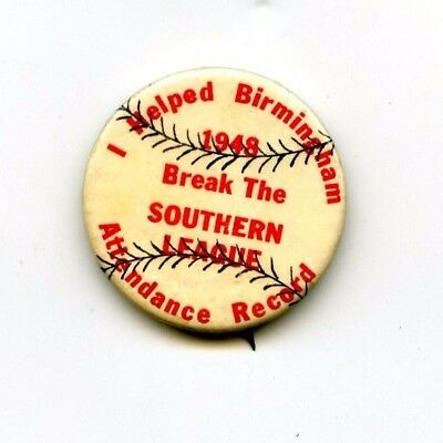 1948 Birmingham Barons I Helped Break the Southern League Attendance Pin