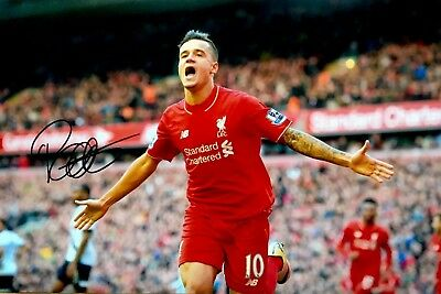 Liverpool Philippe Coutinho original hand signed 30x20 photo