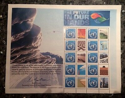 2007 FEUILLE (SHEET) 10 TIMBRES NATIONS UNIES (UNITED NATIONS) Neuf **