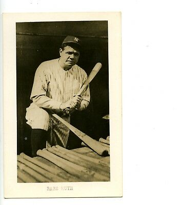 1950s-60s Babe Ruth Real Photo Vintage Postcard w Name Typed
