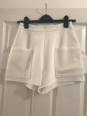 Missguided Size 10 White Shorts