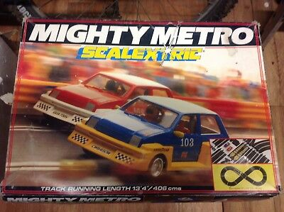 Vintage SCALEXTRIC Mighty Metro Set COMPLETE & WORKING Boxed Collectable