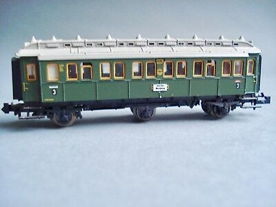 N Gauge  MINITRIX 6 wheel DRG coach 1st, 2nd class