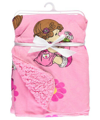 """Precious Moments """"Potted Flowers"""" Microplush Blanket"""