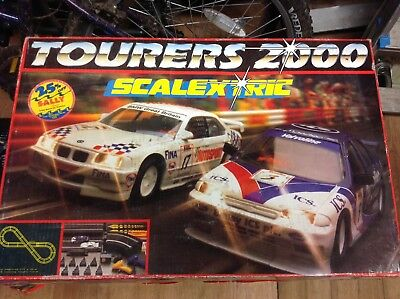 Scalextric Set Tourers 2000 Excellent Condition Boxed Complete With Extra Track