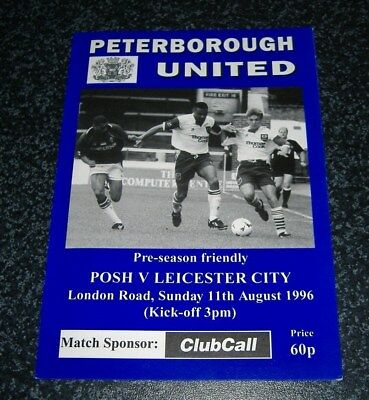 Peterborough v Leicester 1996/97  Friendly