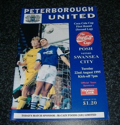 Peterborough v Swansea - League Cup 1995/96