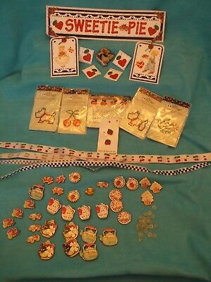 Lot of Mary Engelbreit Cherry Theme for Scrapbooking & Crafts