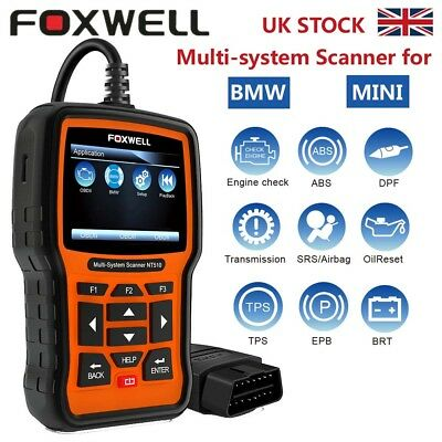 ABS SRS Reset Diagnostic Scan Tool OBDII Car Code Reader For BMW/MINI Foxwell UK