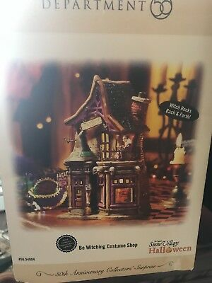 department 56  be witching costume shop Collectible 30th anniversary Limited ed