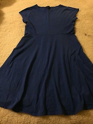 Top Shop Maternity Dress, Size uk 14, Blue