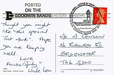 Great Britain 1993 - Special Goodwin Sands Postmark On Postcard