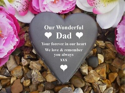 Heart Memorial - Personalised - Weatherproof - Heart - Dad