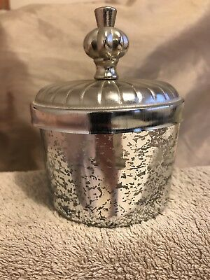 Small Glass Crackled Effect Trinket Box