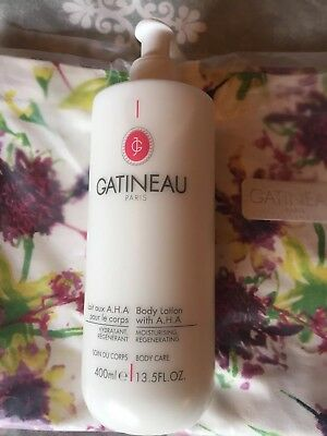 Super Size 400 ml GATINEAU AHA Body Lotion  - Brand New RRP £34 Christmas