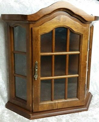 Vintage 20th Century Country Home Wood Wall Mounted Display Cabinet Home Decor