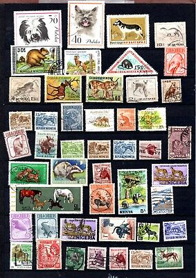 Animal stamps x 106 worldwide thematics several older copies