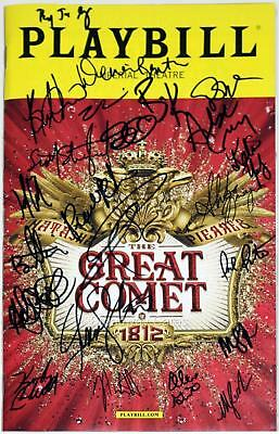 GREAT COMET OF 1812 Cast Denée Benton, Josh Groban Signed Playbill