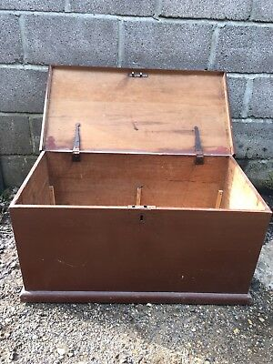 Vintage painted pine chest/box/trunk- coffee table