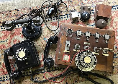 LOT de VIEUX TELEPHONES CENTRALE TELEPHONIQUE VINTAGE DECORATION ANTIK BROCANTE