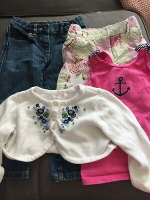 Janie and Jack 4 Piece Lot Of Beautiful Baby Girls Clothes Size 2-3T