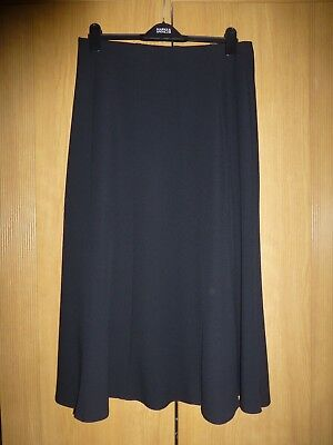 Marks and Spencer, long, black panelled skirt - size 14. Length - 33""