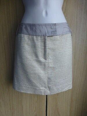 Karen Millen, Gold / champagne, short / mini skirt. Size 8