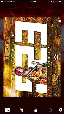 Topps WWE Slam Asuka Limited 523cc Sold Out Digital Card