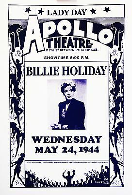 Billie Holiday | Apollo Theater 1944 - 2013  Reprinted Poster