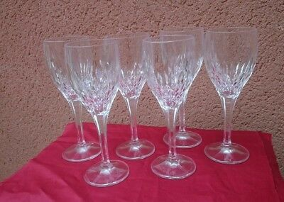 6 X Royal Doulton Crystal Wine Glasses
