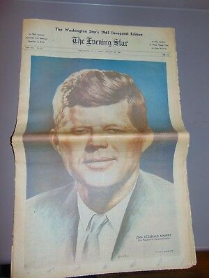 Jan. 20, 1961 Washington D.c. Newspaper: President John F. Kennedy Inauguration