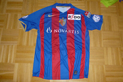 FC BASEL Trikot matchworn STOCKER Nr. 14 von NIKE in Größe L SUPER LEAGUE
