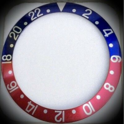 Original Rolex - Vintage GMT-Master 1675 16750 Pepsi Insert Inlay blue/red TOP