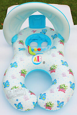 Safe Swimming Ring for Baby Bath Neck Float Mother-child Play Swim ring GN8