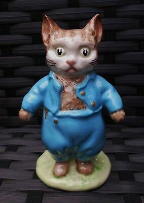 Beswick Beatrix Potter TOM KITTEN BP3A 1973/74 DARK BLUE COAT VERSION WOW!