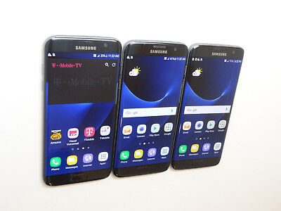 Lot of 3 Samsung Galaxy S7 edge SM-G935T 32GB T-Mobile Smartphones AS-IS GSM