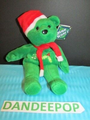 Salvino's Bamm Beano's Holiday Bear David Justice #23. Issue Date 1998 With Tags