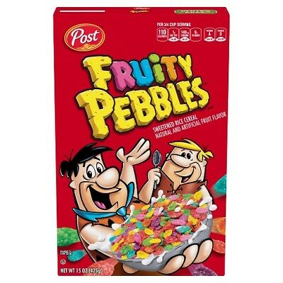 New Sealed Post Fruity Pebbles Fruit Flavored Rice Cereal 11 Oz