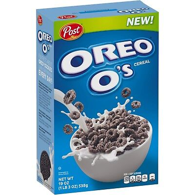 New Sealed Post Oreo O's Cereal19 Oz Rich Creme And Chocolate Flavored