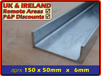 "Aluminium Channel (C U section, gutter, profile,ramp,alloy) | 6"" x 2"""
