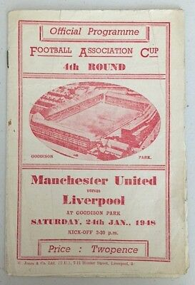 MANCHESTER UNITED v LIVERPOOL FA CUP 1947-48