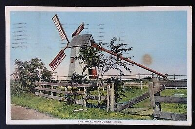 Nantucket, Mass. C.1937 Pc. View Of The Mill On The Island