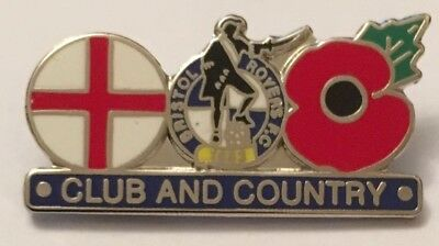 Bristol Rovers Club And Country Poppy New In Bag Football Pin Badge