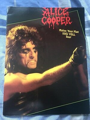 Alice Cooper Raise Your Fist And Yell Tour Programme