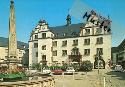 AK DARMSTADT, Rathaus, Auto voiture car, Ford 12m, Karmann Ghia, BMW, Ford 17m
