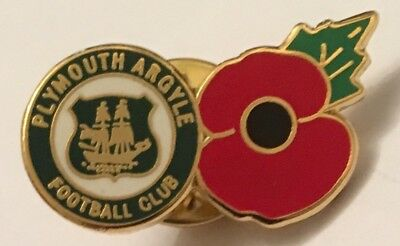 Plymouth Argyle Poppy New In Bag Football Pin Badge
