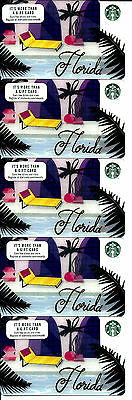 Starbucks Florida Gift Cards (Lot Of 15) ** New **