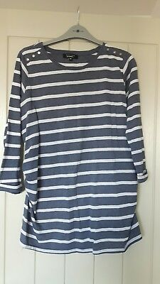 womens clothes - stripey maternity top. size 10