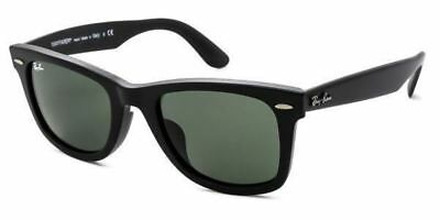 Authentic Ray-Ban Sunglasses RB2140F 901 S Matte Black Frames Green Lens  52MM 32a9dfb6df